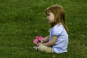 little girl on perfect lawn Paradise Landscaping and Tree Removal