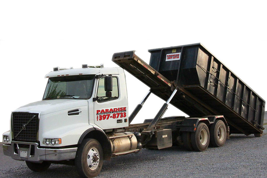 roll off dumpster rentals by Paradise Landscaping and Tree Removal
