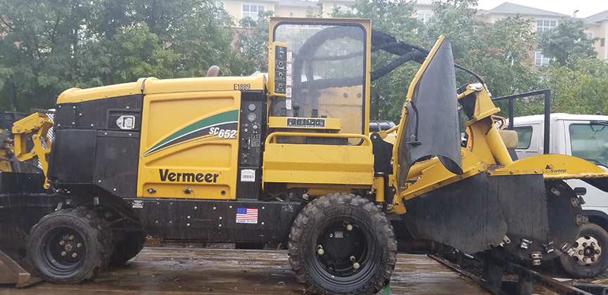 Paradise Landscaping & Tree Removal's state-of-the-art stump grinder