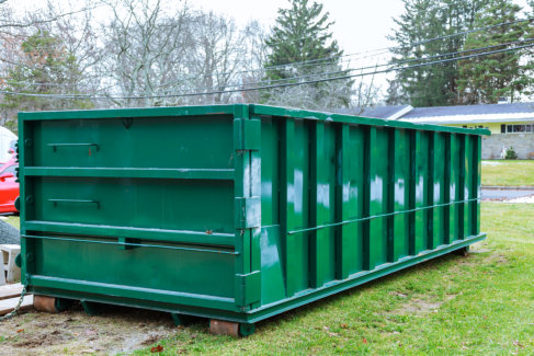 Why Rent a Dumpster After a Landscaping Job