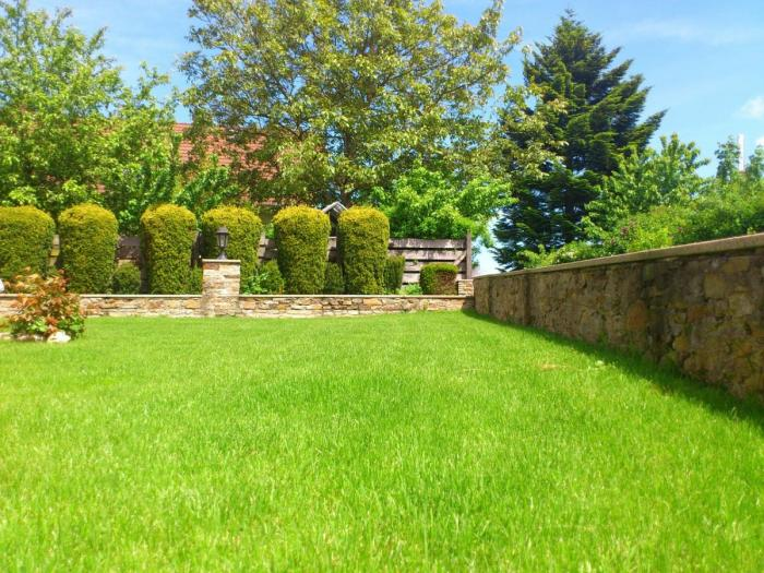 We can build the walls, landscape features and maintain a beautiful lawn for you.
